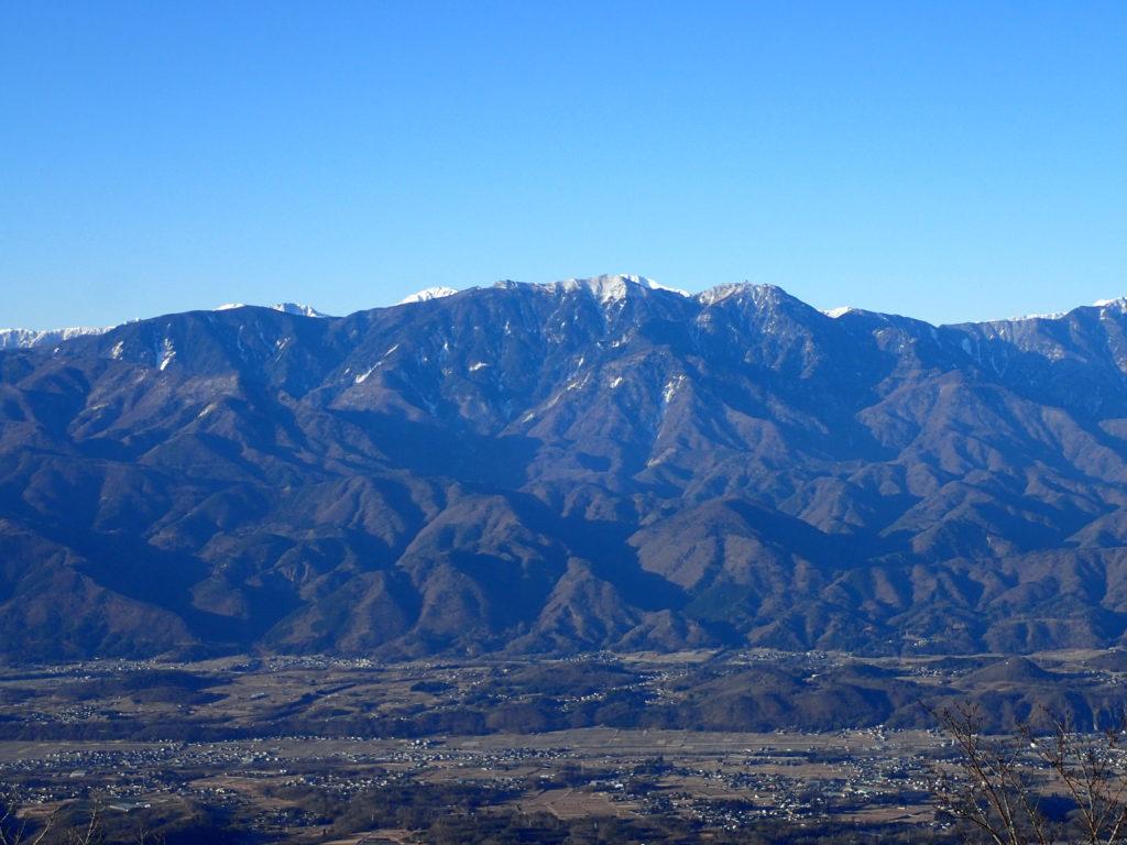 茅ヶ岳から見る鳳凰三山