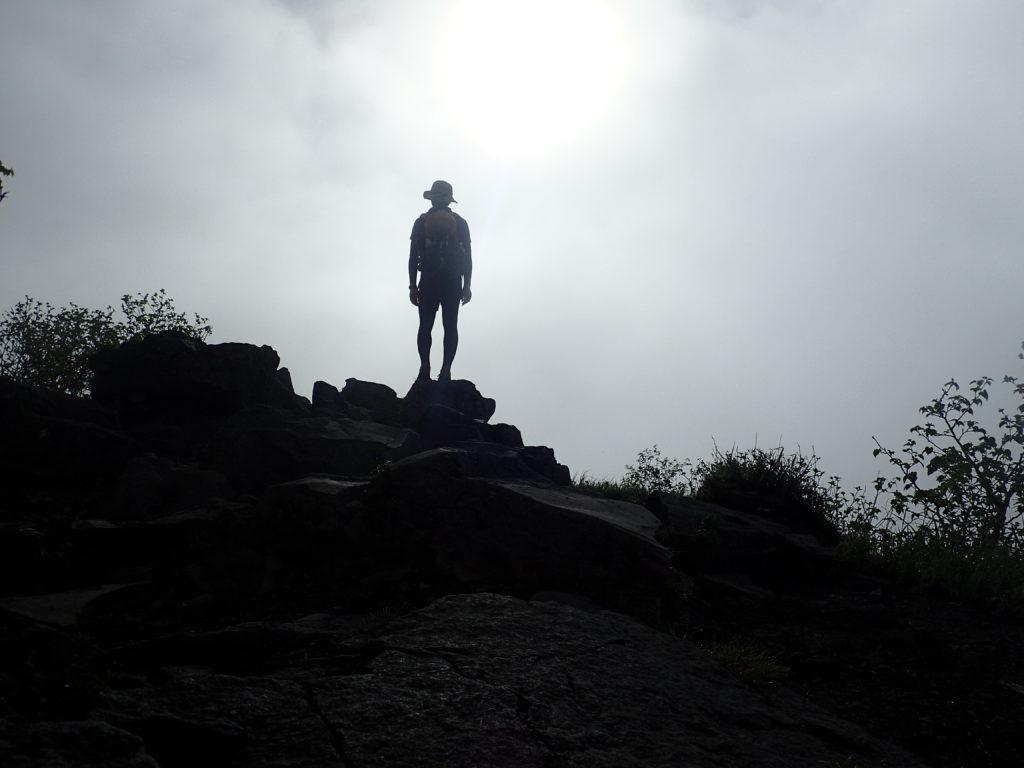 ひと夏での日本百名山全山日帰り登山29座目の四阿山登山の記念写真