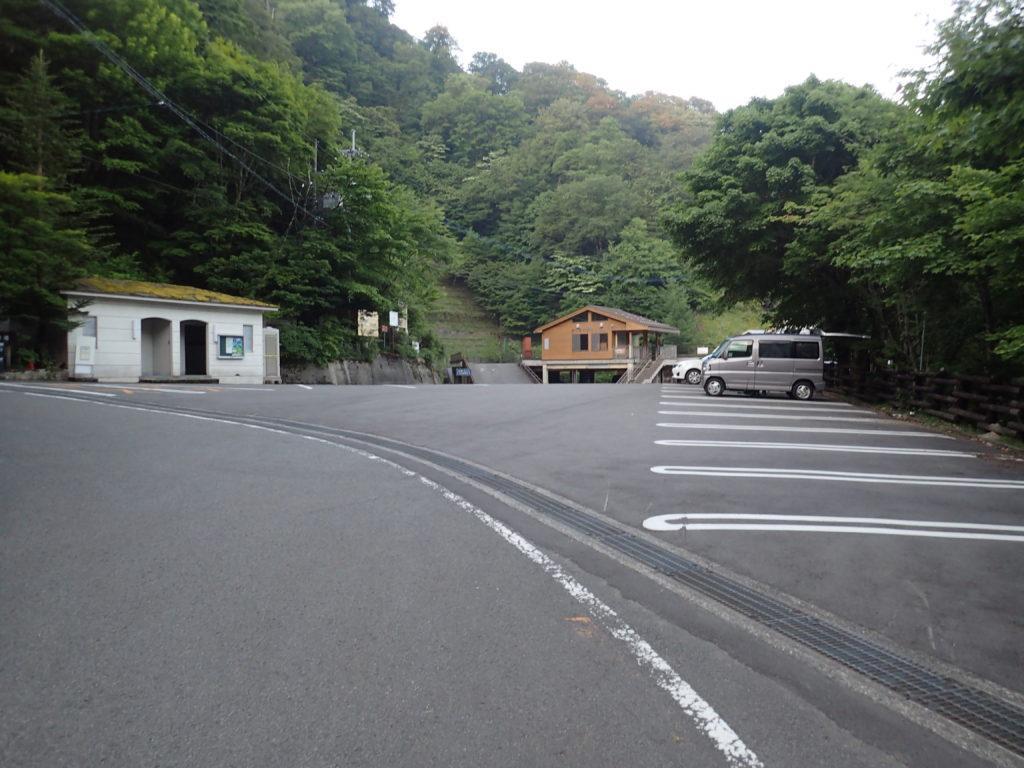 剣山の見ノ越の駐車場