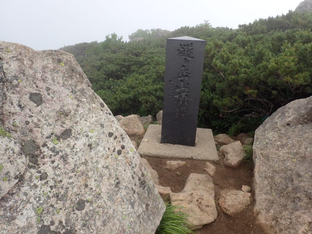 ひと夏での日本百名山全山日帰り登山で撮影した燧ヶ岳の山頂標