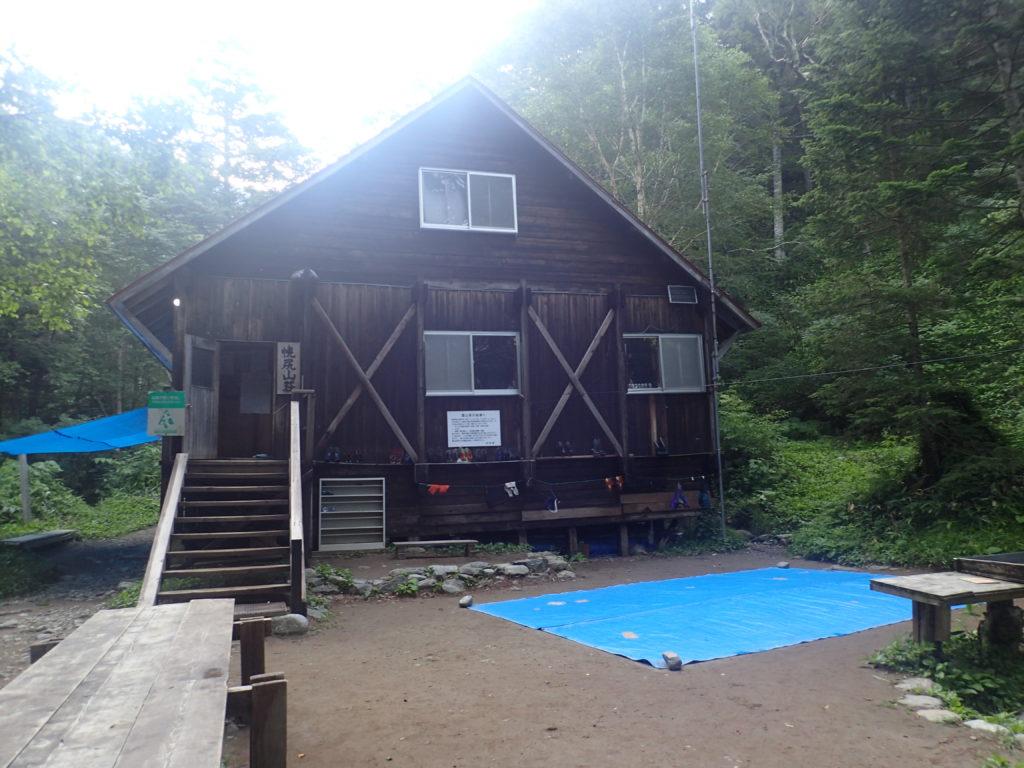 幌尻岳の振内コースの幌尻山荘