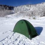 雪山登山のビバークに備えるには自立するヘリテイジのクロスオーバードームがおすすめ