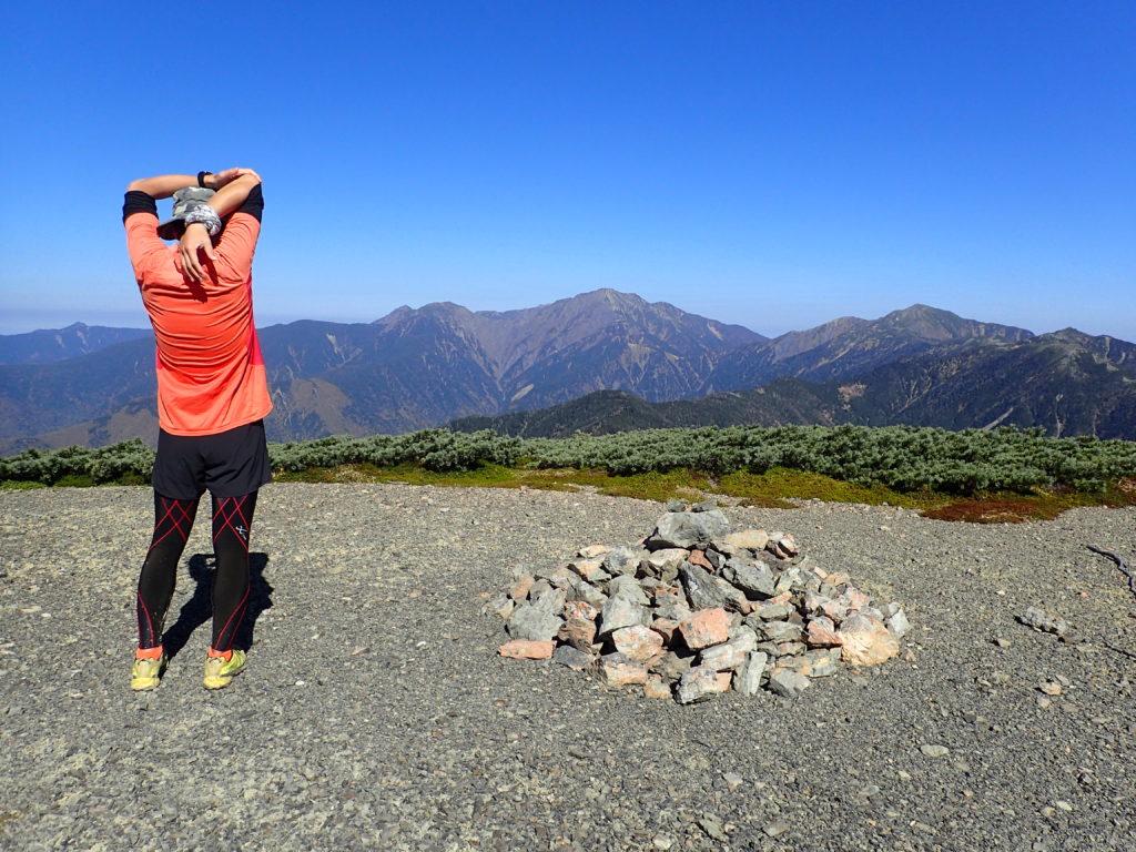 夏山登山での下半身のウェリング