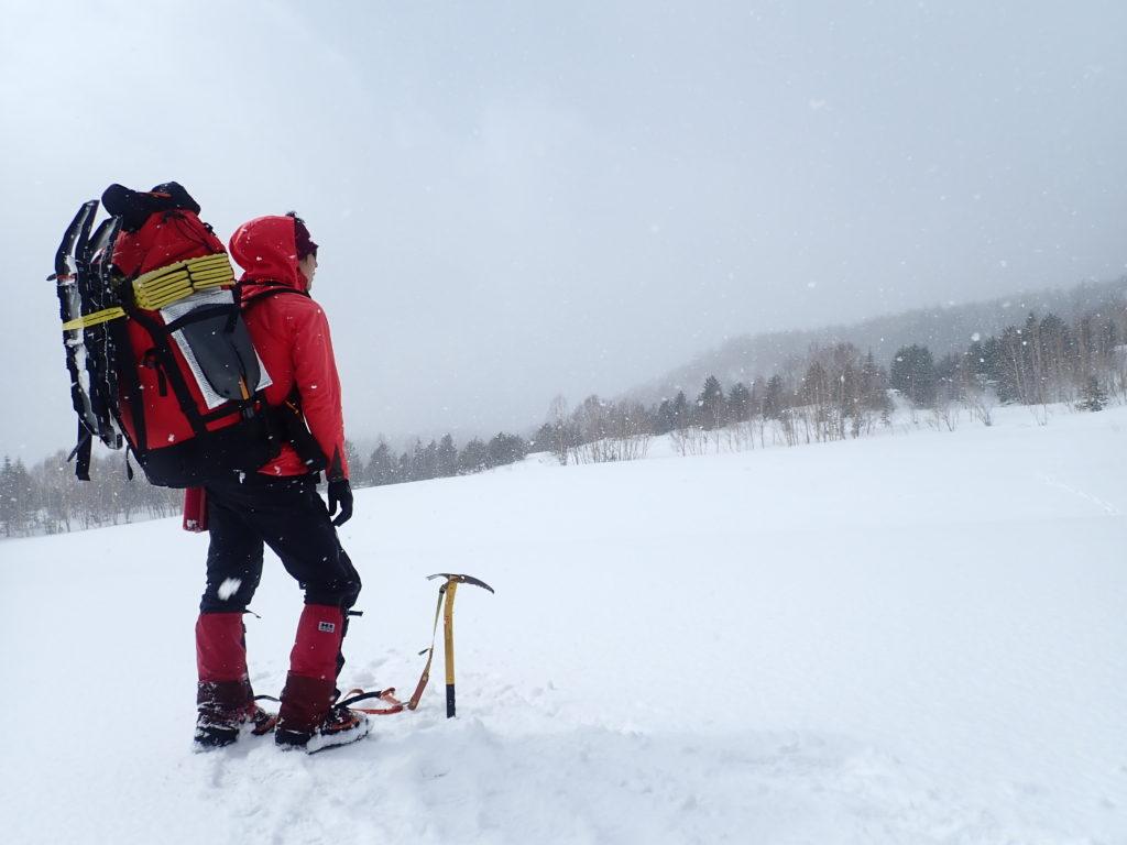 雪山テント泊装備をパッキングしたガッシャブルム