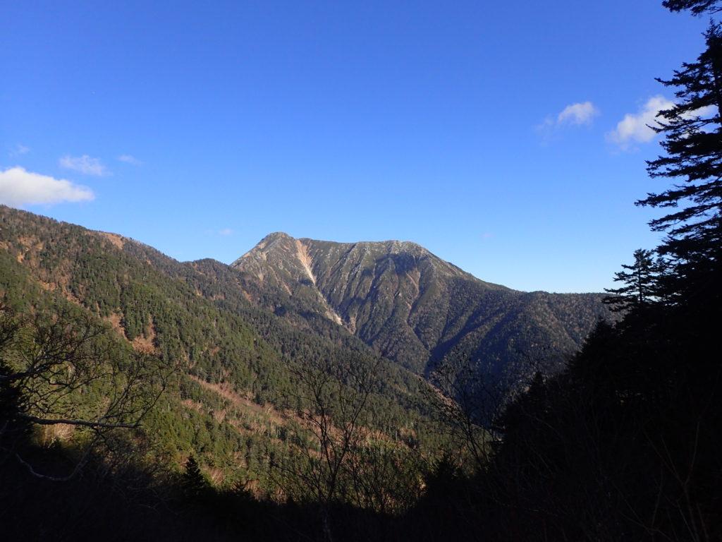 北アルプス蝶ヶ岳の三股ルートから撮影した常念岳